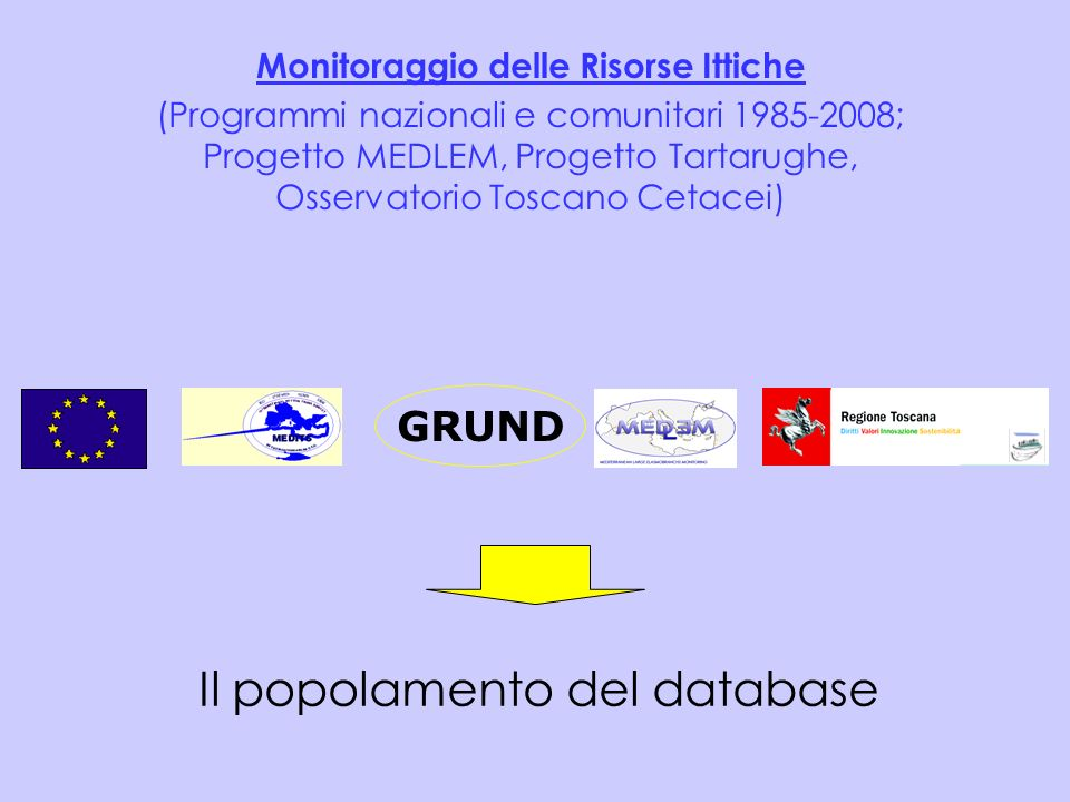 Il popolamento del database