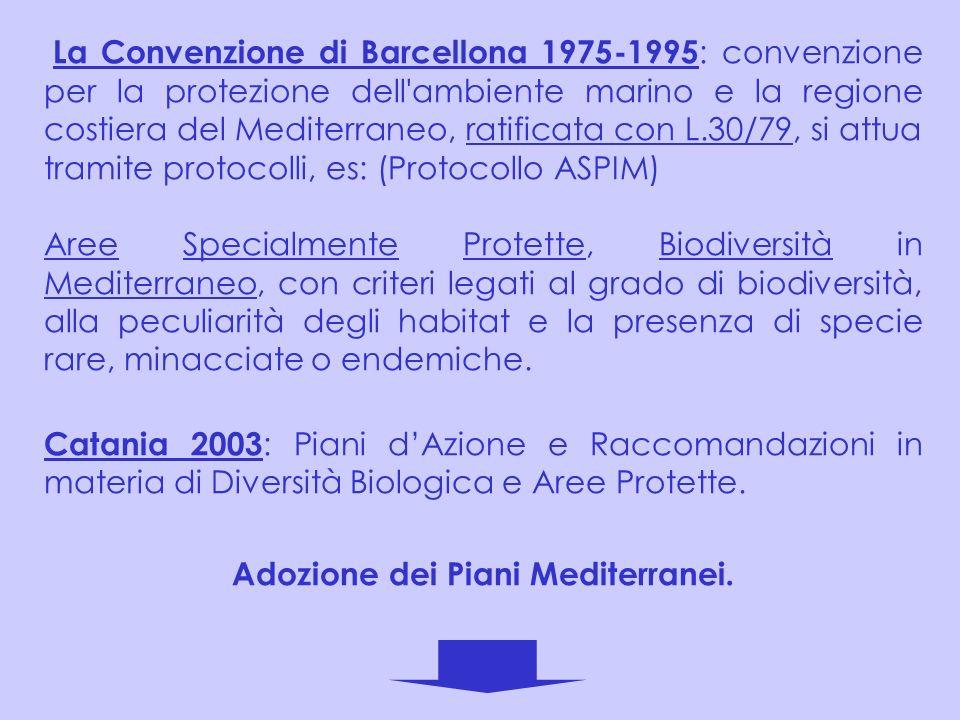 Adozione dei Piani Mediterranei.