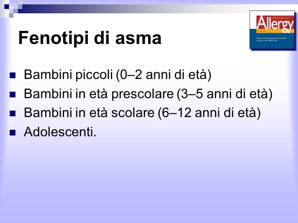 Fenotipi di asma Bambini piccoli (0–2 anni di età)