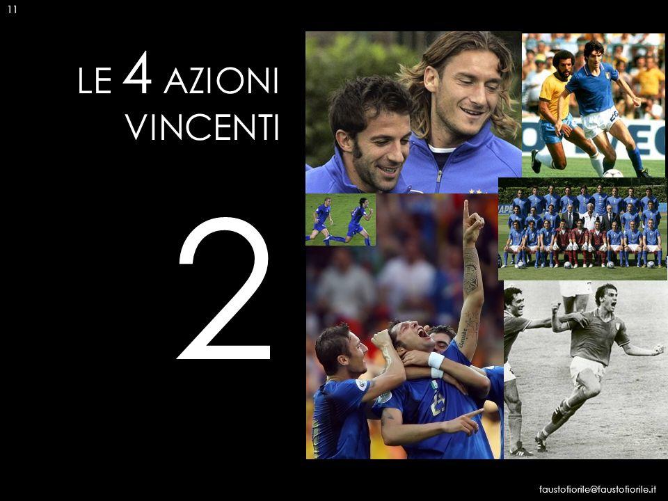 11 LE 4 AZIONI VINCENTI 2 faustofiorile@faustofiorile.it 11