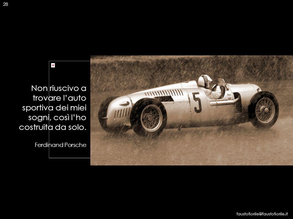 28 Non riuscivo a trovare l'auto sportiva dei miei sogni, così l'ho costruita da solo. Ferdinand Porsche.