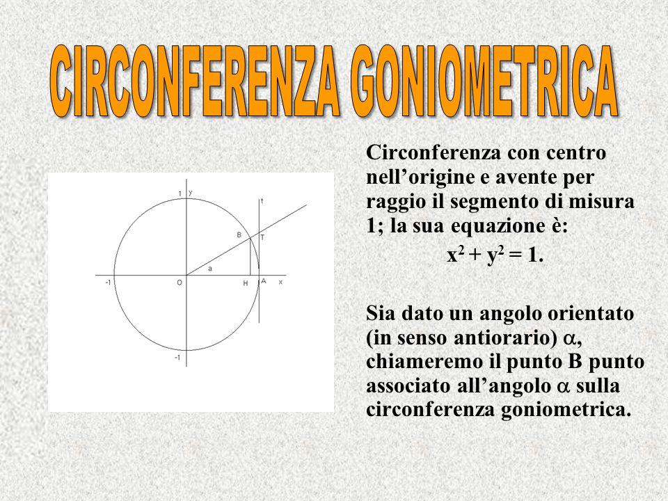 CIRCONFERENZA GONIOMETRICA