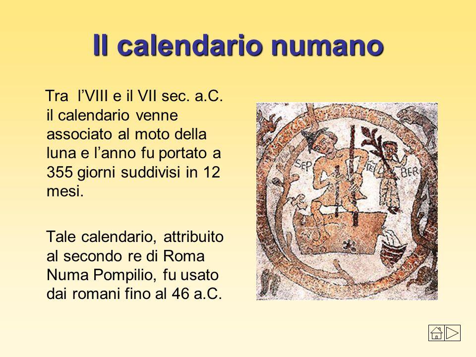 Il calendario numano