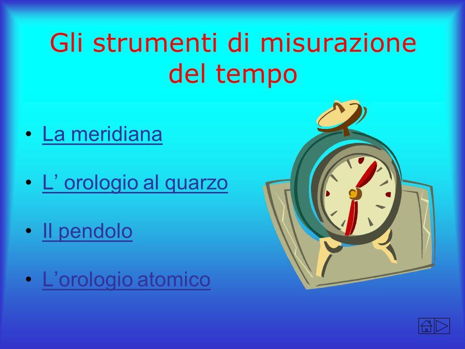 Gli strumenti di misurazione del tempo