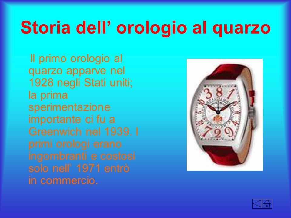 Storia dell' orologio al quarzo