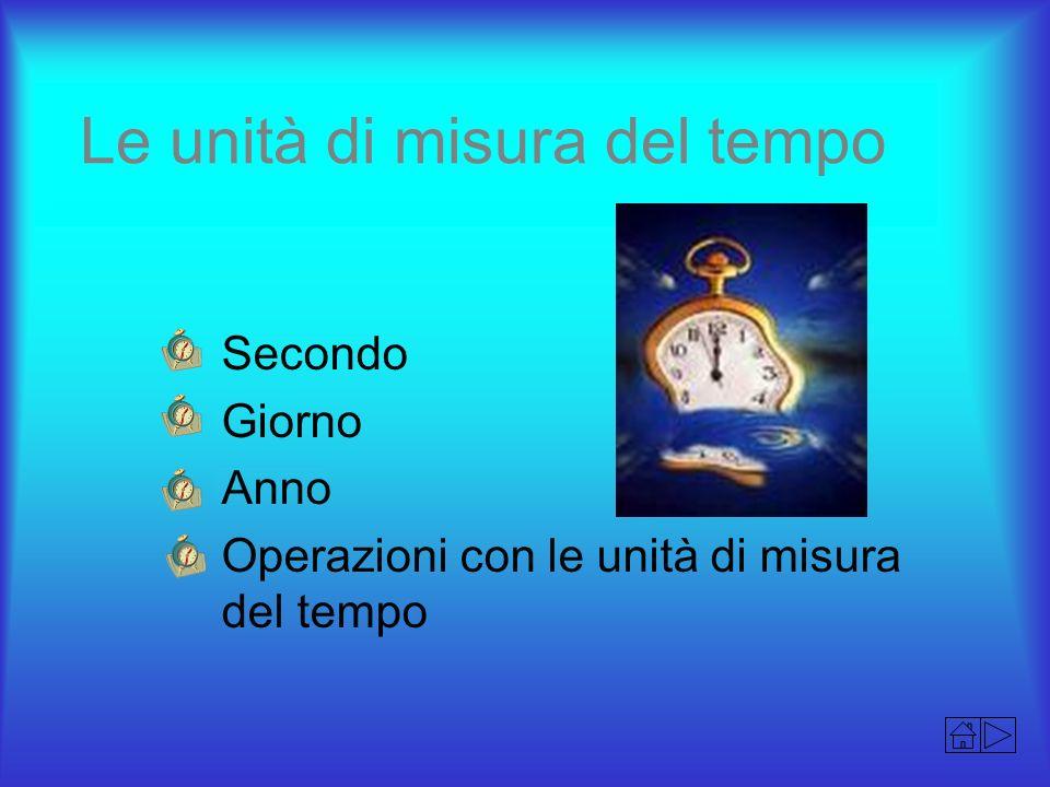 Le unità di misura del tempo