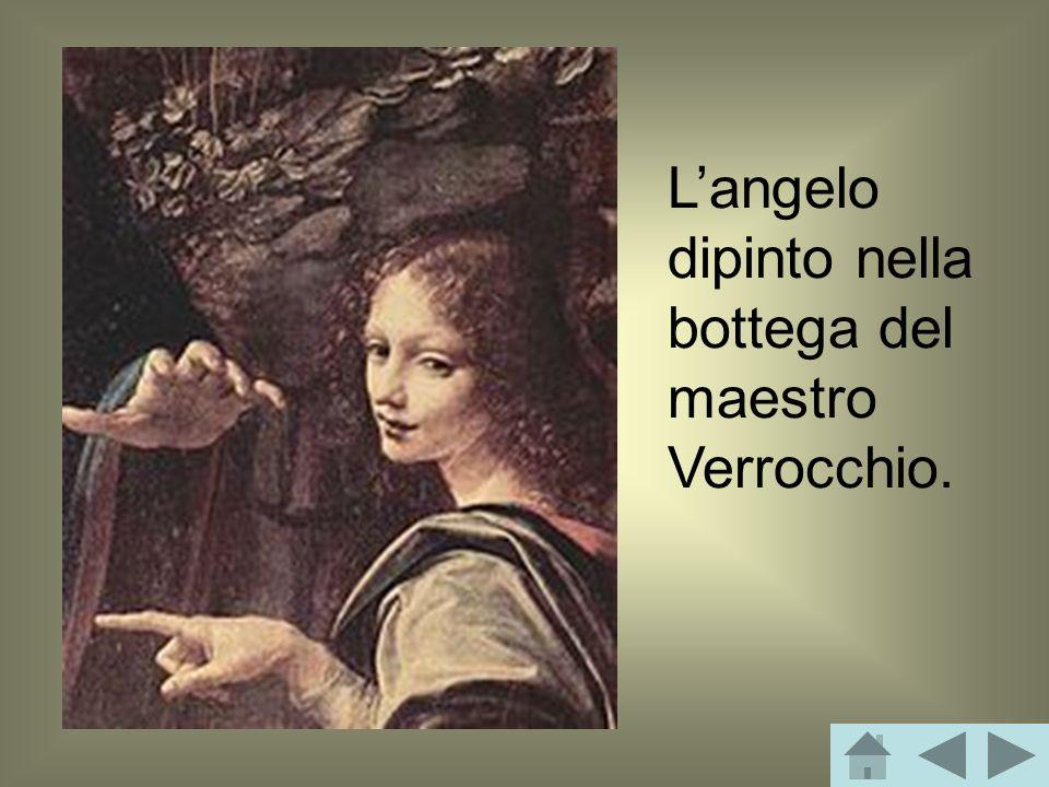 L'angelo dipinto nella bottega del maestro Verrocchio.