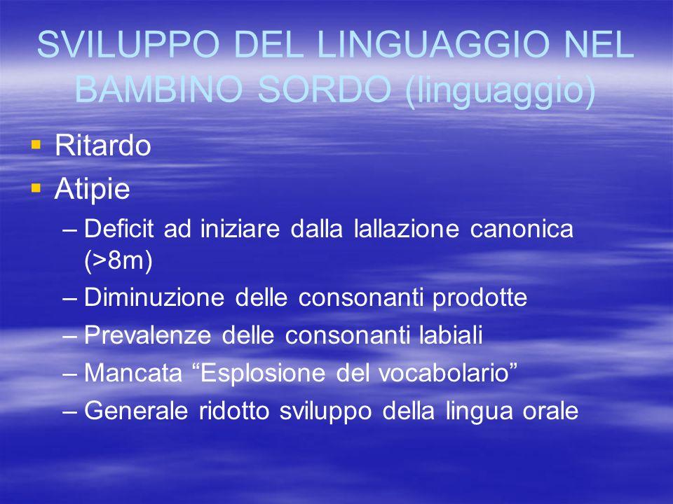 SVILUPPO DEL LINGUAGGIO NEL BAMBINO SORDO (linguaggio)