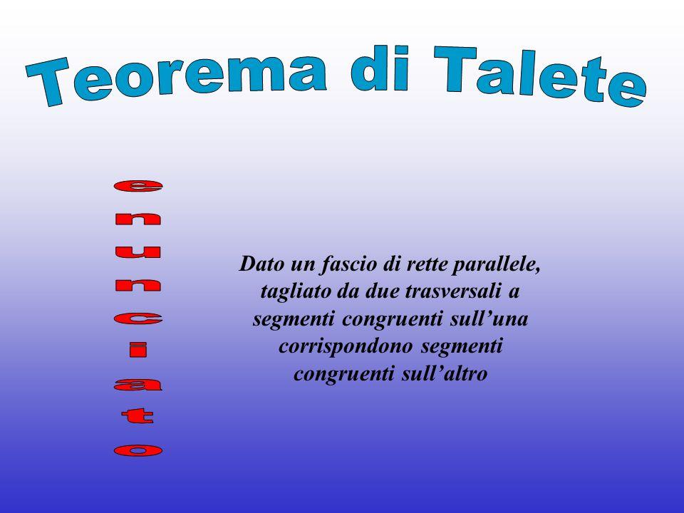 Teorema di Talete enunciato