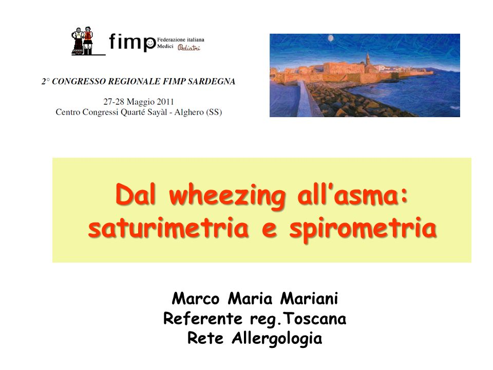 Dal wheezing all'asma: saturimetria e spirometria