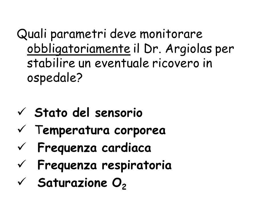 Quali parametri deve monitorare obbligatoriamente il Dr
