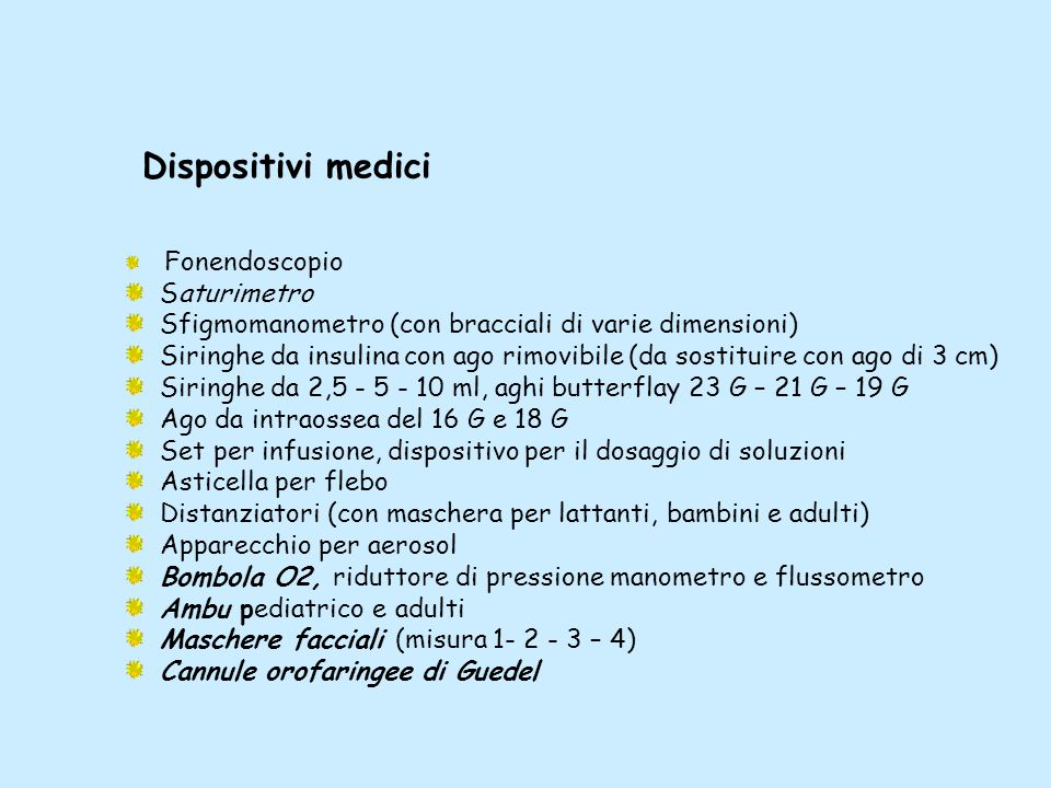 Dispositivi medici Saturimetro