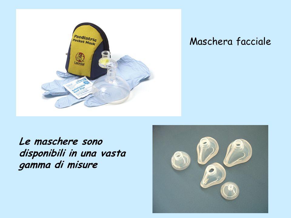 Maschera facciale Le maschere sono disponibili in una vasta gamma di misure