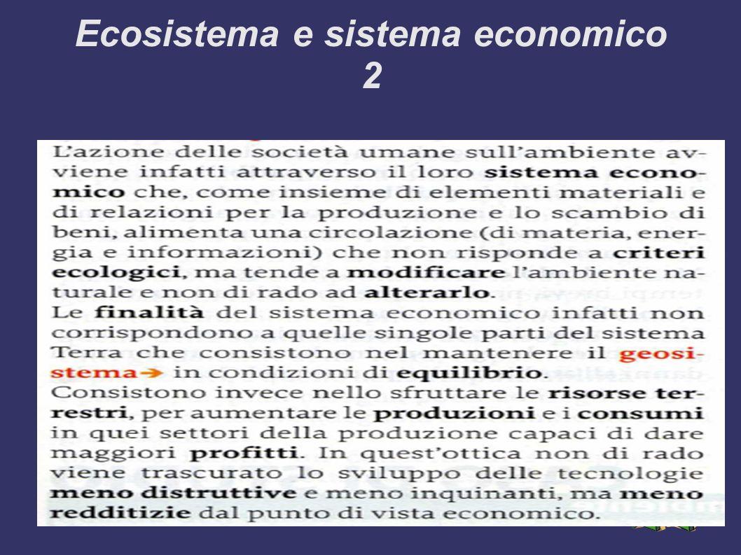 Ecosistema e sistema economico 2