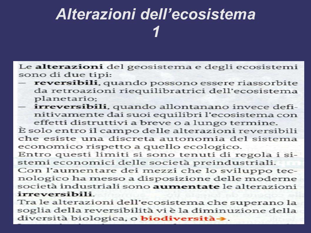 Alterazioni dell'ecosistema 1