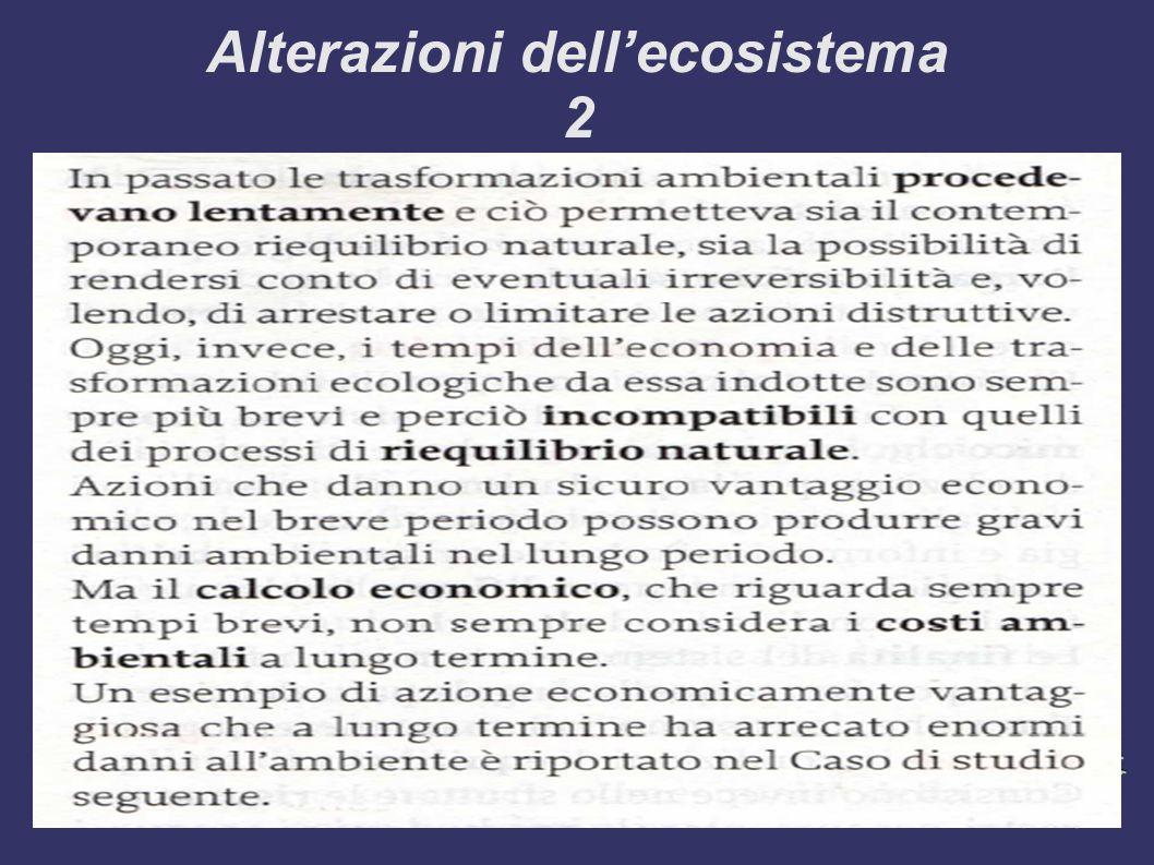 Alterazioni dell'ecosistema 2