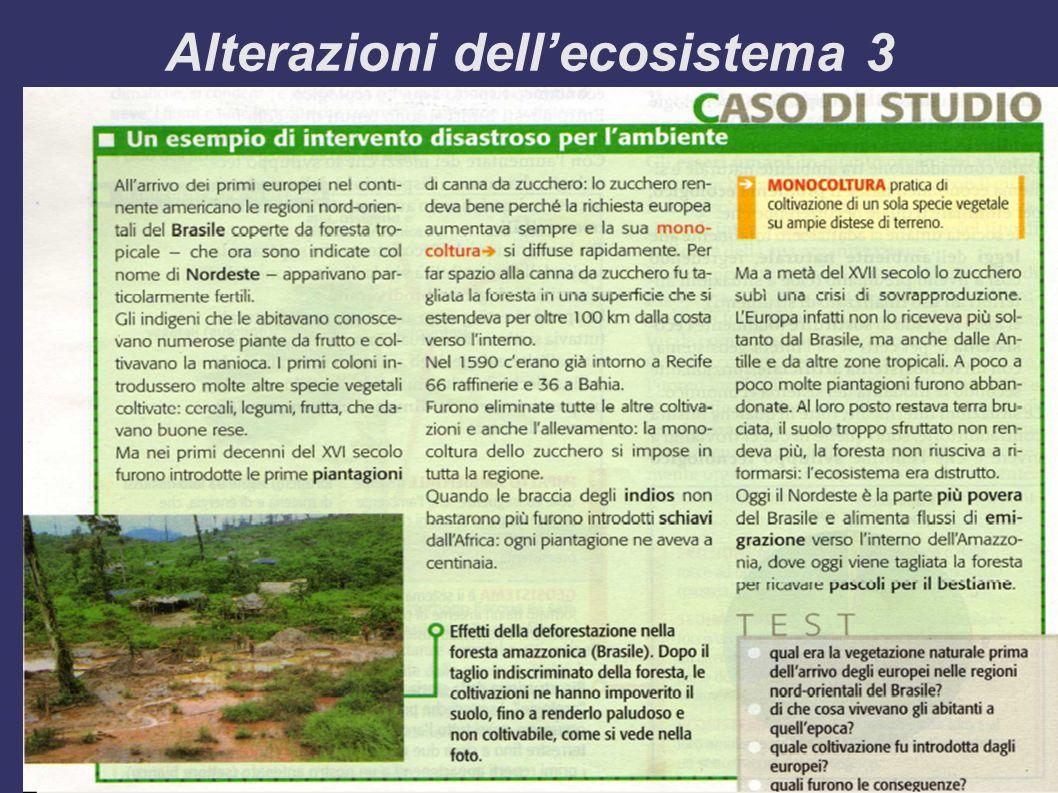 Alterazioni dell'ecosistema 3
