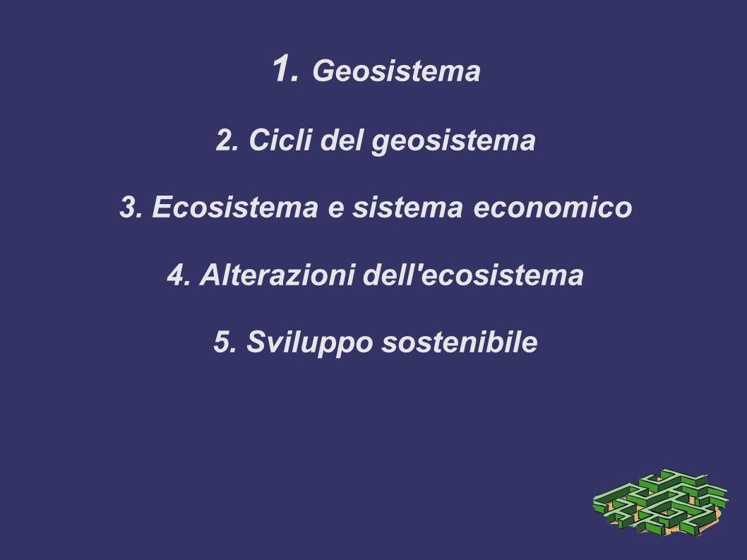 Il sistema Terra e le società umane 1. Geosistema 2
