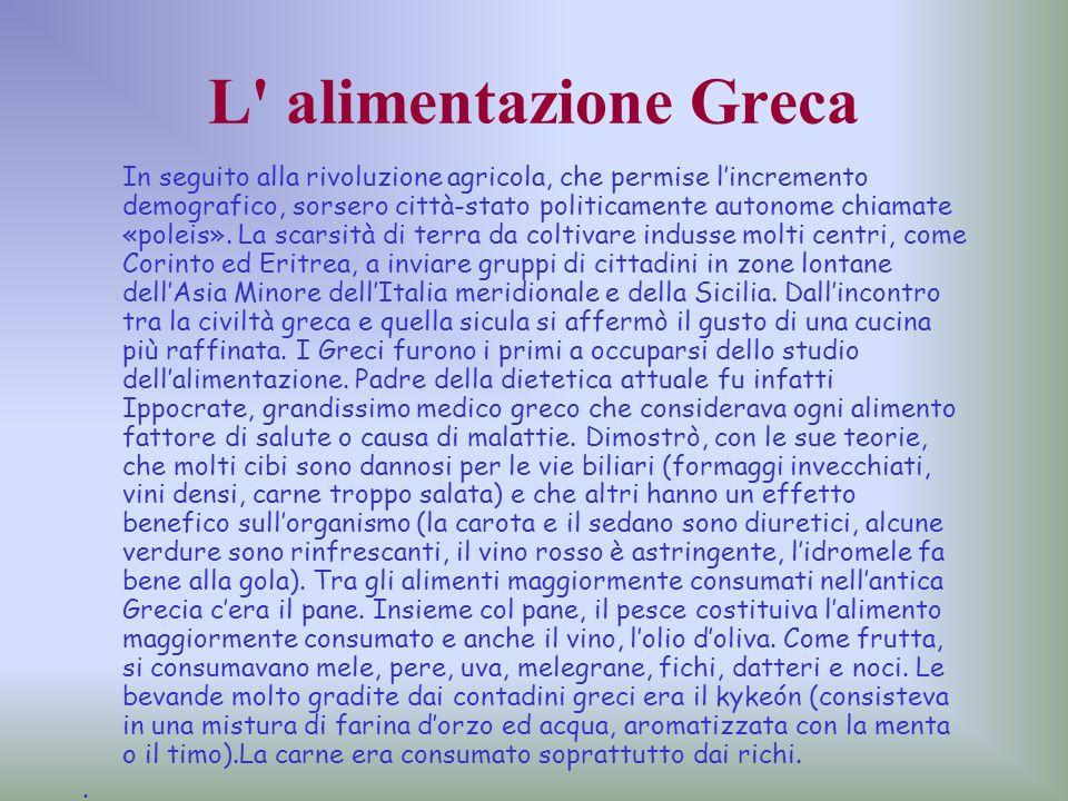 L alimentazione Greca