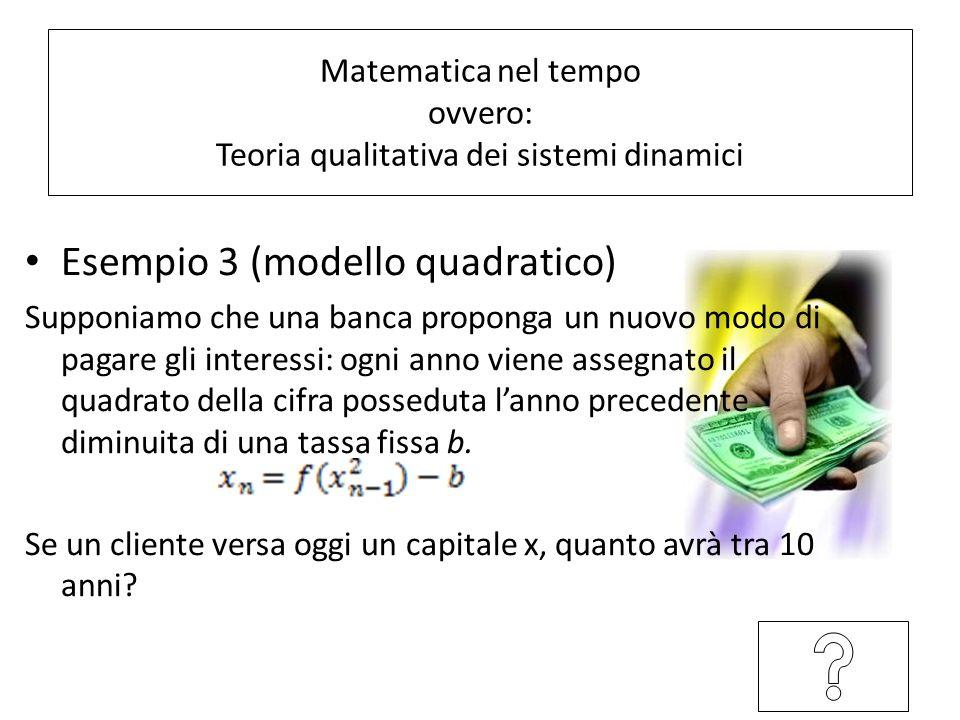 Matematica nel tempo ovvero: Teoria qualitativa dei sistemi dinamici