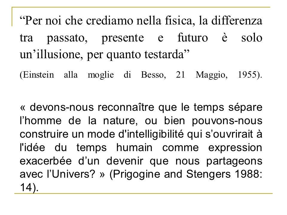 Per noi che crediamo nella fisica, la differenza tra passato, presente e futuro è solo un'illusione, per quanto testarda