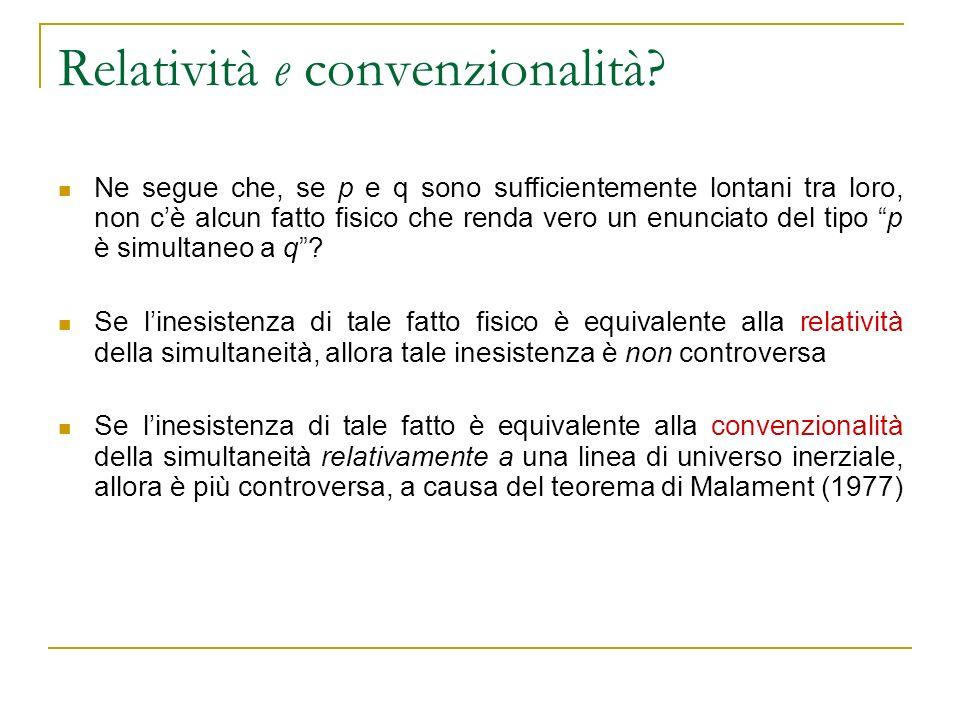 Relatività e convenzionalità