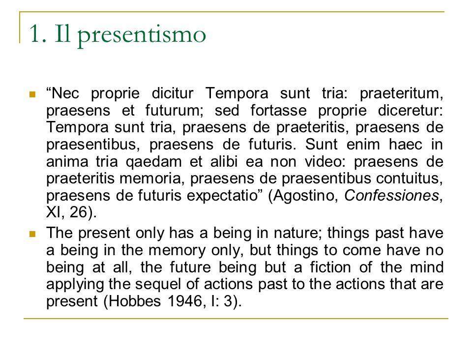1. Il presentismo