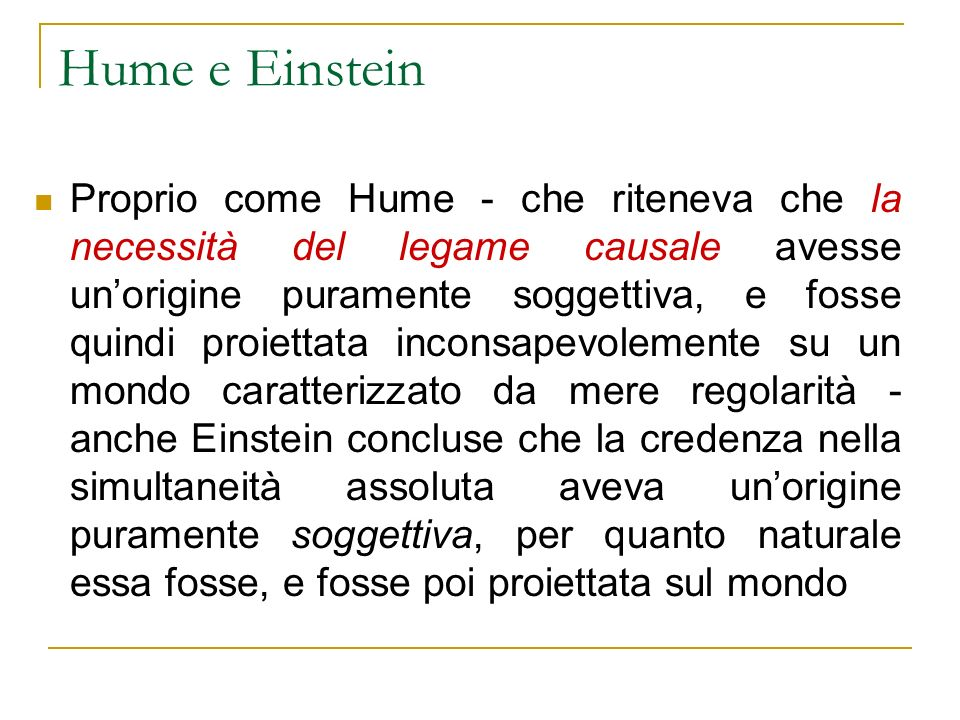 Hume e Einstein
