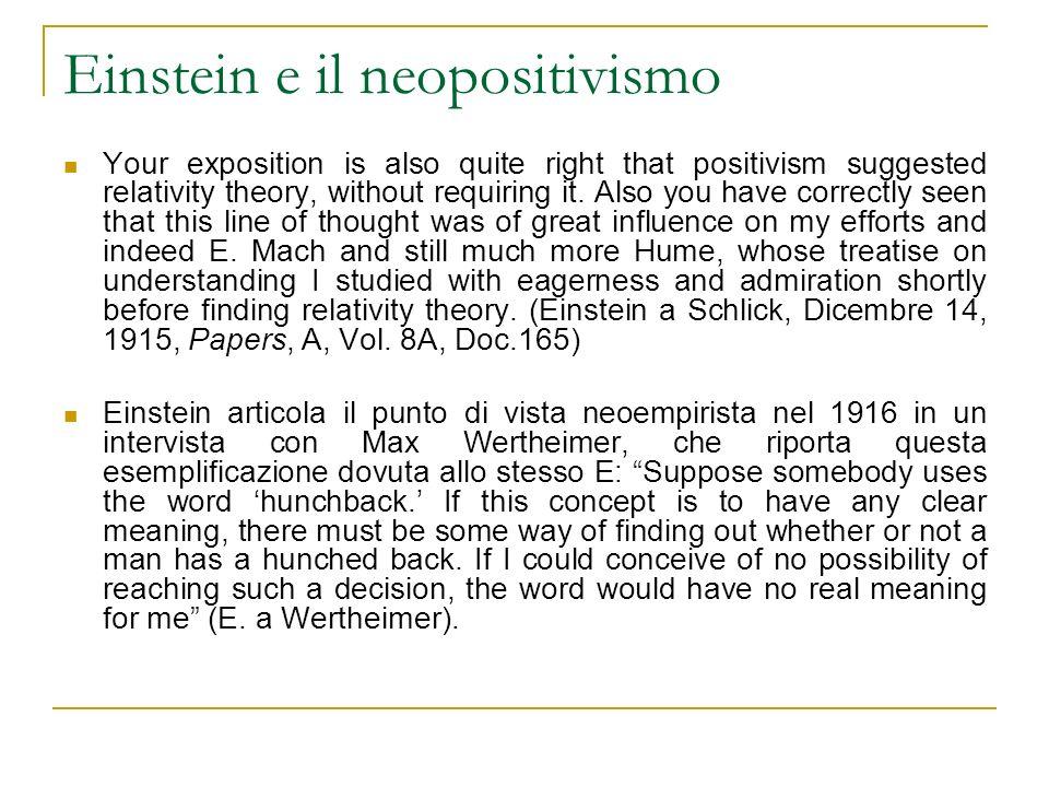 Einstein e il neopositivismo
