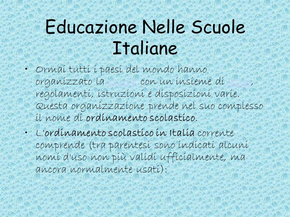Educazione Nelle Scuole Italiane