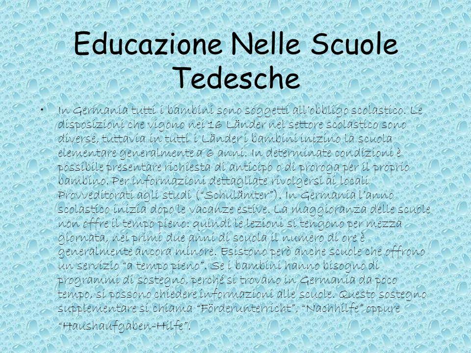 Educazione Nelle Scuole Tedesche