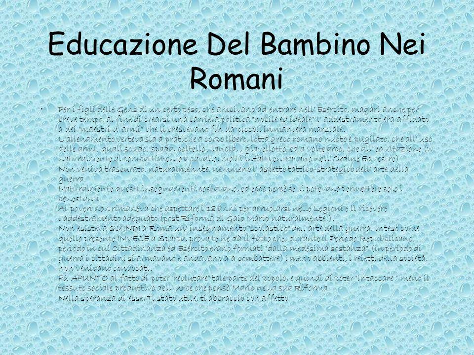Educazione Del Bambino Nei Romani