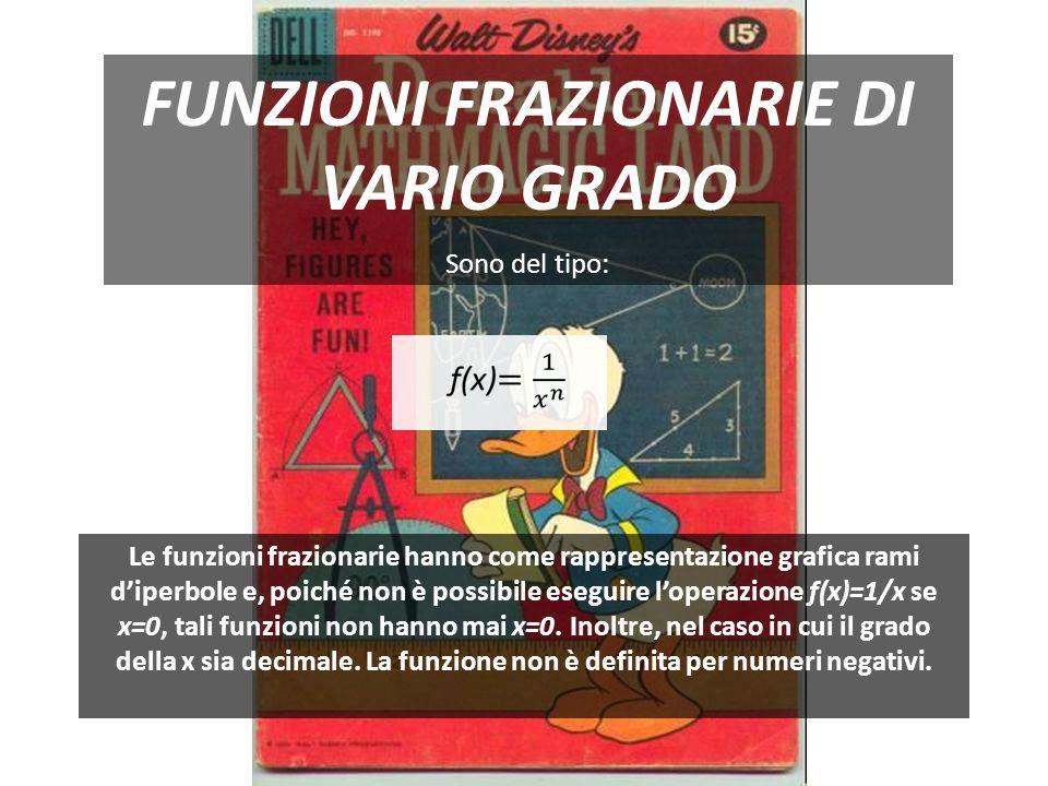 FUNZIONI FRAZIONARIE DI VARIO GRADO