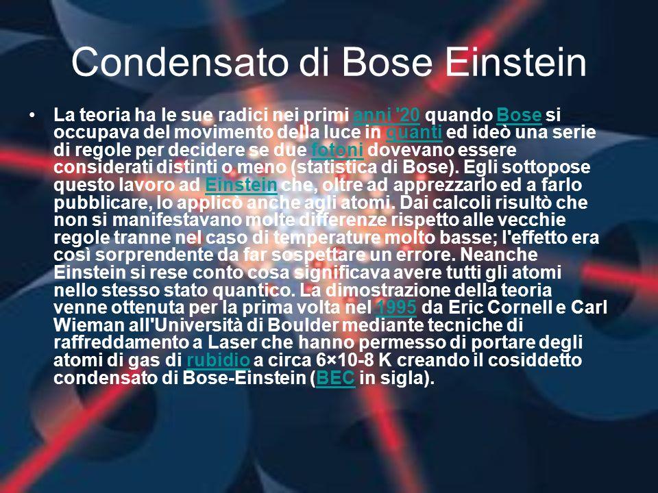 Condensato di Bose Einstein
