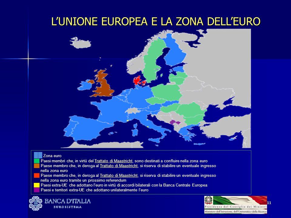 L'UNIONE EUROPEA E LA ZONA DELL'EURO