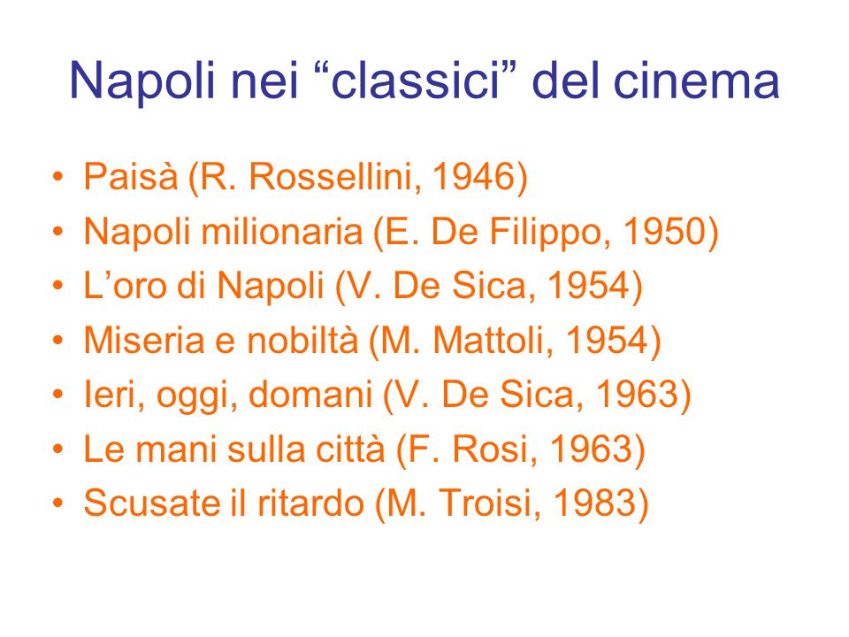 Napoli nei classici del cinema