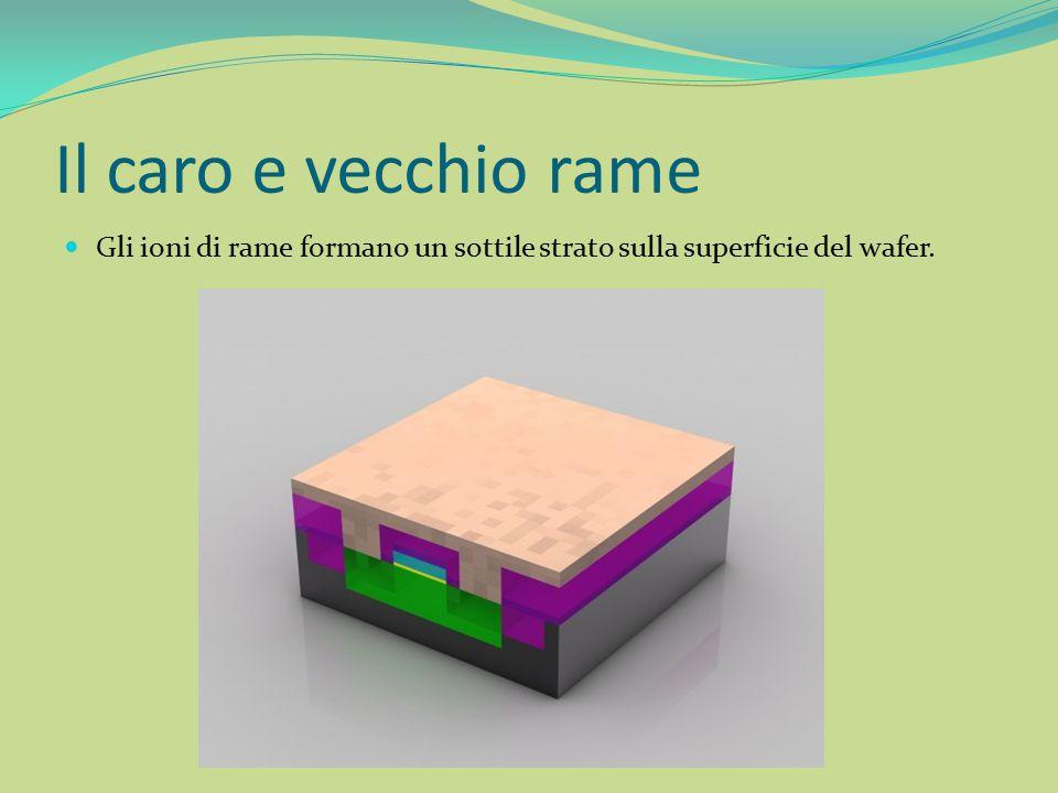 Il caro e vecchio rame Gli ioni di rame formano un sottile strato sulla superficie del wafer.