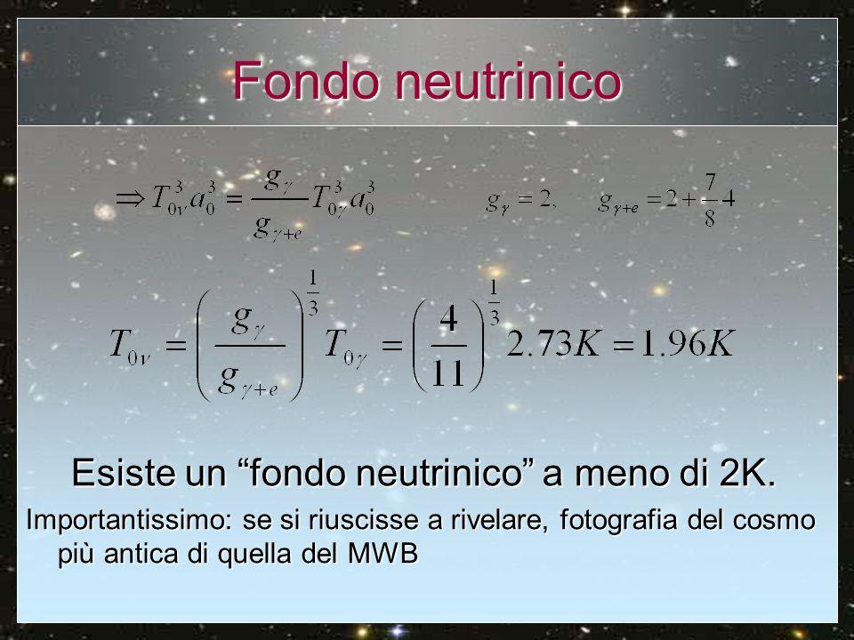 Esiste un fondo neutrinico a meno di 2K.