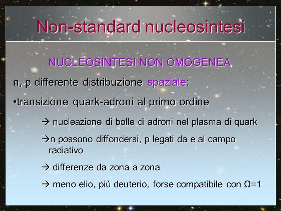 Non-standard nucleosintesi