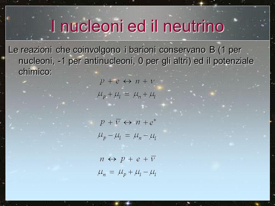 I nucleoni ed il neutrino