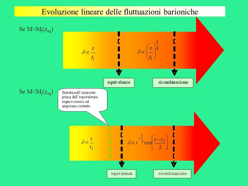 Evoluzione lineare delle fluttuazioni barioniche