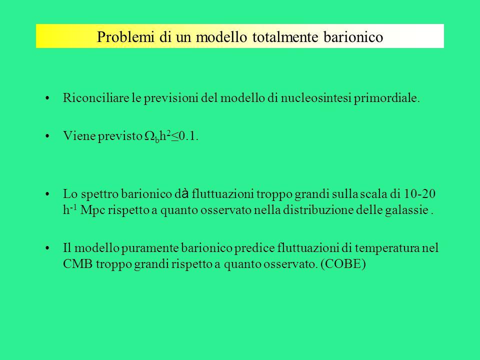 Problemi di un modello totalmente barionico