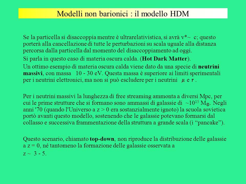 Modelli non barionici : il modello HDM