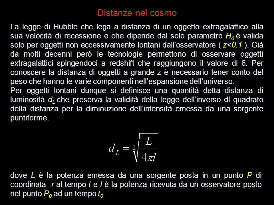 Distanze nel cosmo