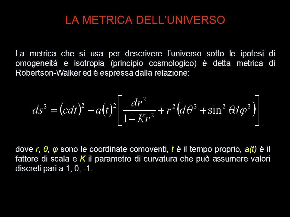 LA METRICA DELL'UNIVERSO