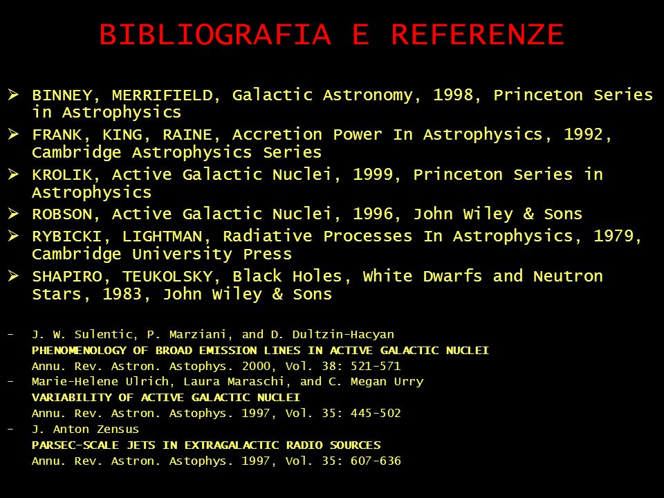 BIBLIOGRAFIA E REFERENZE