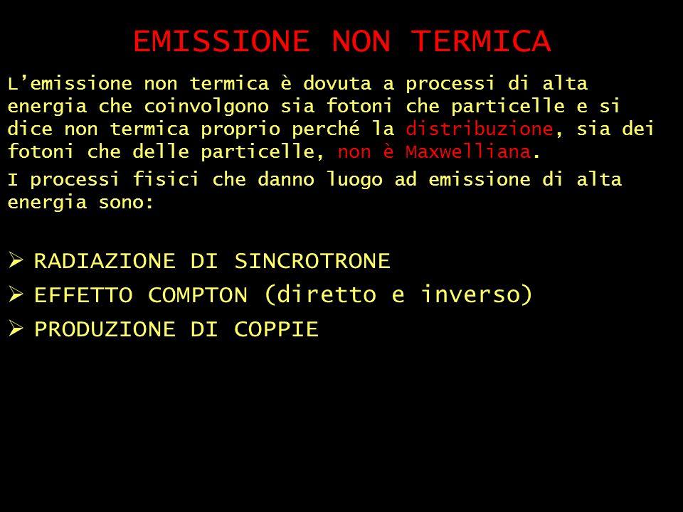 EMISSIONE NON TERMICA RADIAZIONE DI SINCROTRONE