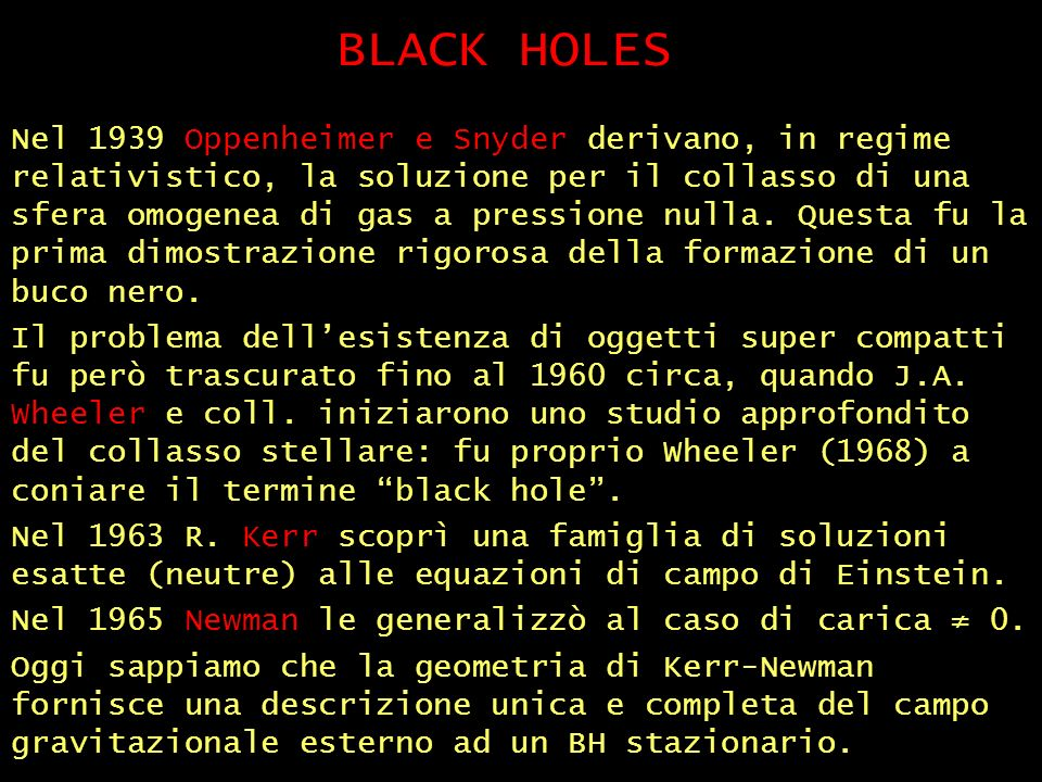 BLACK HOLES (2)