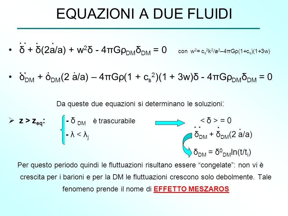 Da queste due equazioni si determinano le soluzioni: