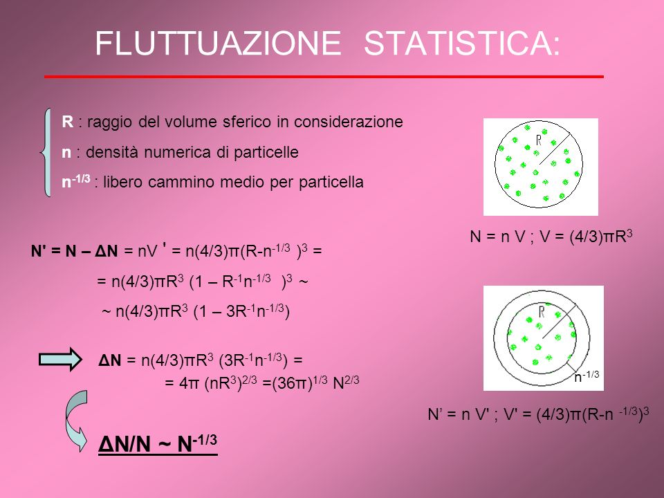 FLUTTUAZIONE STATISTICA:
